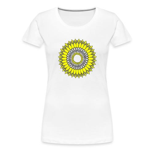 Yellow Sunflower Mandala - Women's Premium T-Shirt