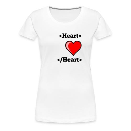 Html Heart - T-shirt Premium Femme