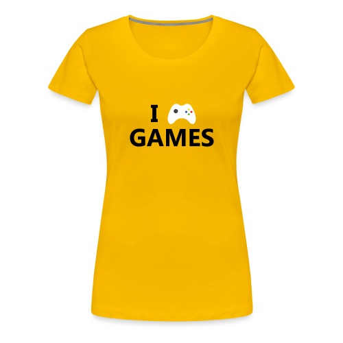 I Love Games - Camiseta premium mujer