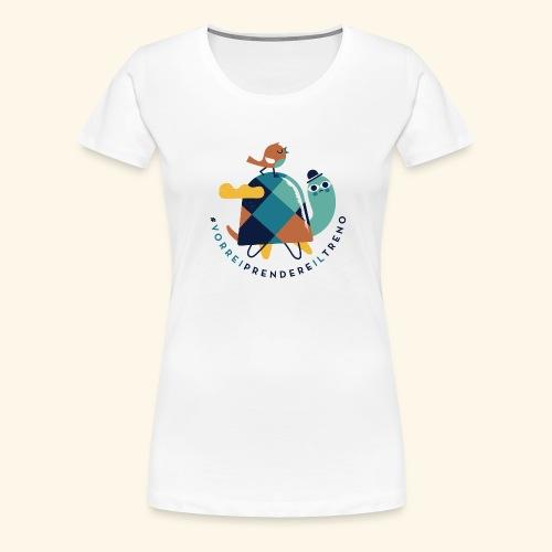 Tartaruga e uccellino - Maglietta Premium da donna