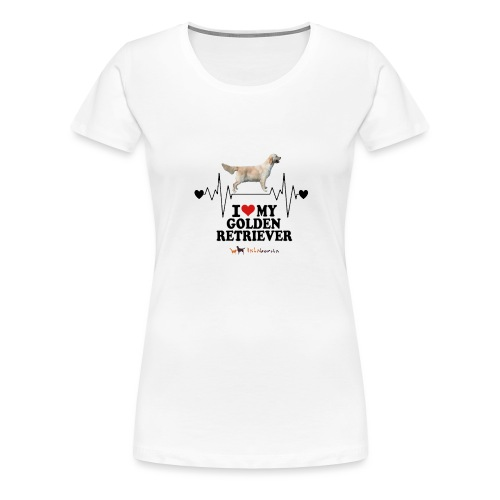 I love Golden Retriever - Maglietta Premium da donna
