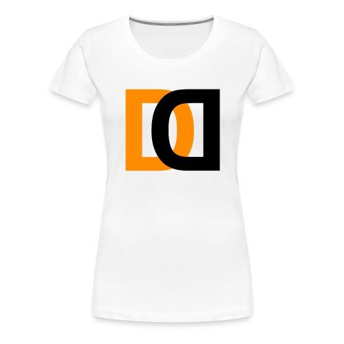 Dutch Driveclub logo oranje zwart transparante ach - Vrouwen Premium T-shirt