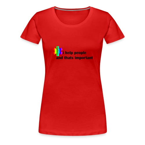 i help people - Vrouwen Premium T-shirt