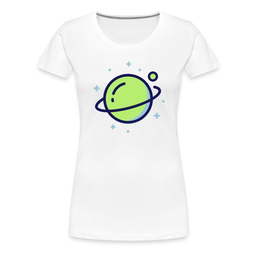 Space Earth - Vrouwen Premium T-shirt