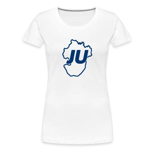 JU Umriss blau - Frauen Premium T-Shirt