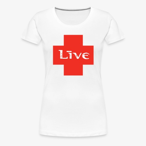 live cross HR png - Vrouwen Premium T-shirt