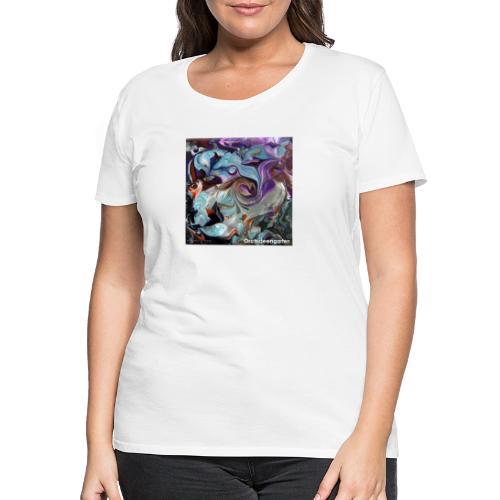 TIAN GREEN Welt Mosaik - AT028 Orchideengarten - Frauen Premium T-Shirt