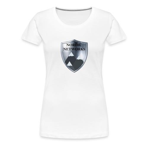 Nordic Networks Logo - Premium T-skjorte for kvinner
