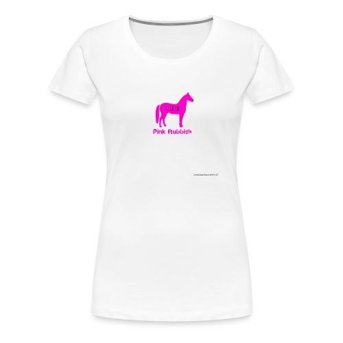 Pink Rubbish - Vrouwen Premium T-shirt