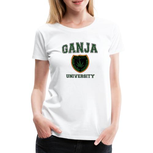 Ganja University black - Frauen Premium T-Shirt