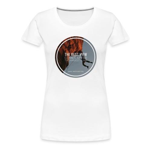 best view - Frauen Premium T-Shirt
