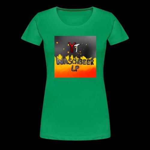 Waschbeer Design 2# Mit Flammen - Frauen Premium T-Shirt