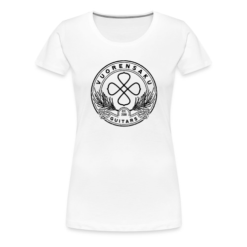 vuorensaku_logo_distressed_BLACK - Naisten premium t-paita