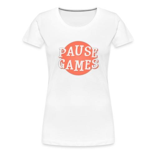 Pause Games Logo - Women's Premium T-Shirt