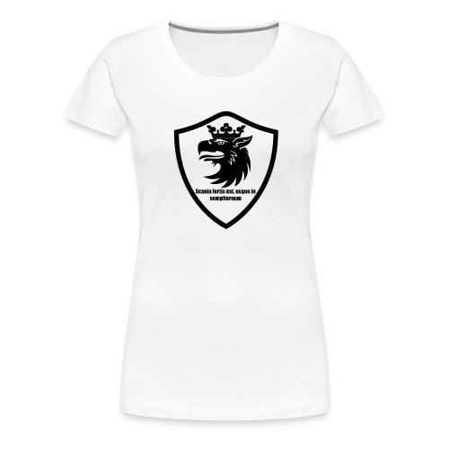Skåne står evigt starkt, latin - Premium-T-shirt dam
