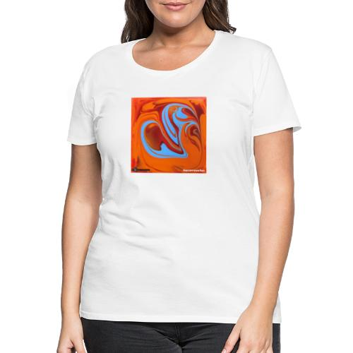 TIAN GREEN Mosaik DK005 - Herzenswelten - Frauen Premium T-Shirt