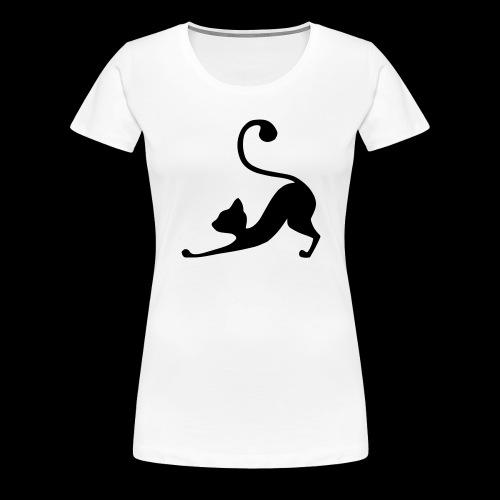 Downward Facing Dog - Cat Edition - Women's Premium T-Shirt
