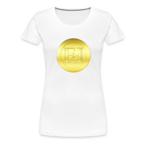 New Gold Freicoin Circle - Frauen Premium T-Shirt