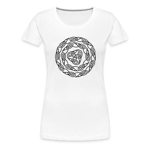 Triquetra circles - Women's Premium T-Shirt