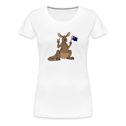 Kängeru png - Frauen Premium T-Shirt
