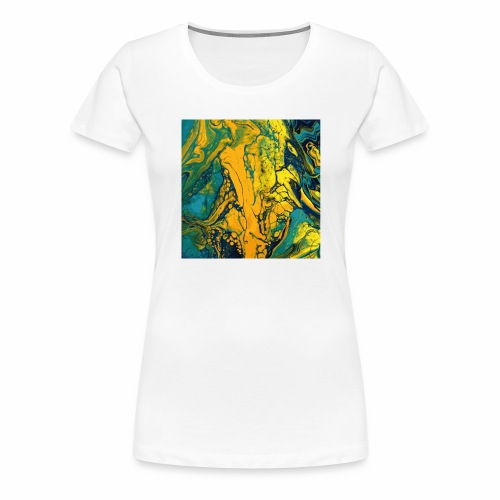 Yellow Cells - Frauen Premium T-Shirt