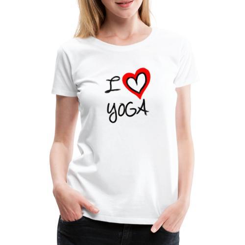 i Love Yoga - Frauen Premium T-Shirt