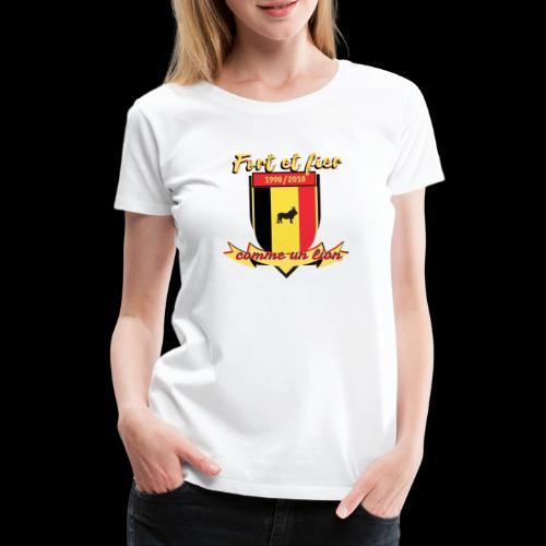 belgique foot coupe du monde - T-shirt Premium Femme