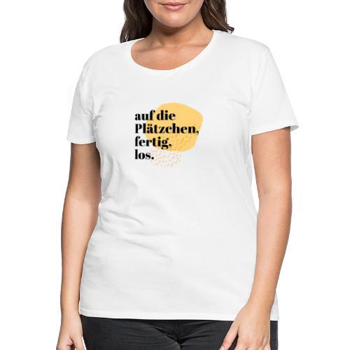 Auf die Plätzchen, fertig, los. Aquarell - Frauen Premium T-Shirt