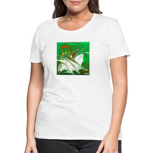 TIAN GREEN Mosaik CG002 - quaKI - Frauen Premium T-Shirt