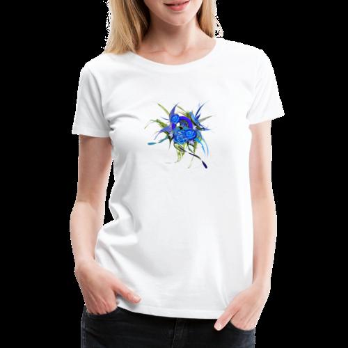 Blue flower - Blå blom - Premium-T-shirt dam