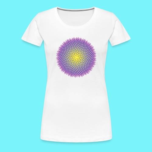 Fibonacci based image with radiating elements - Women's Premium T-Shirt