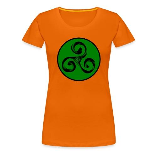 Triskel and Spiral - Camiseta premium mujer