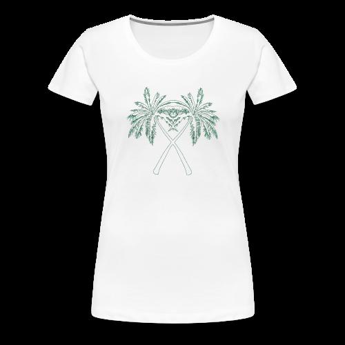 PALMX GREEN CONTOURS - Premium-T-shirt dam