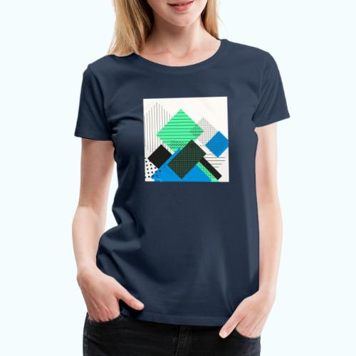 Abstract rectangles pastel - Women's Premium T-Shirt