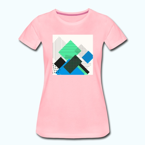 Abstract rectangles pastel - Women's Premium T-Shirt