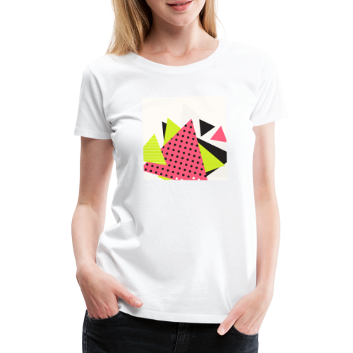 Neon geometry shapes - Women's Premium T-Shirt
