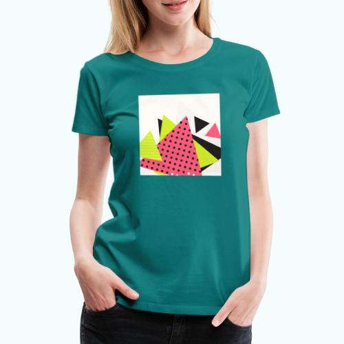Neon geometry shapes - Women's Premium T-Shirt