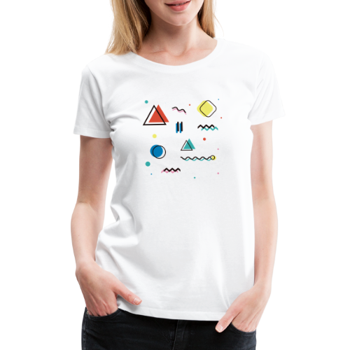 Abstract geometry - Women's Premium T-Shirt