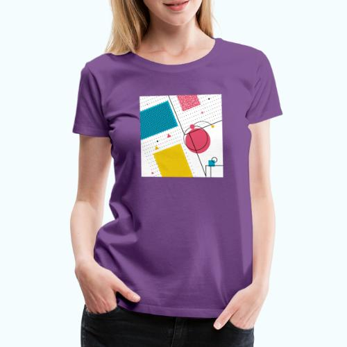 Colors shapes abstract - Women's Premium T-Shirt