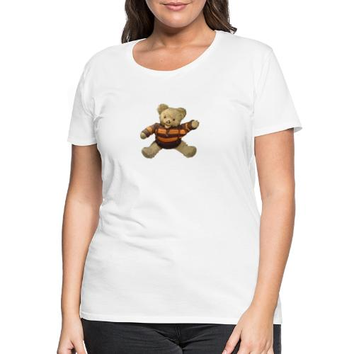 Teddybär - orange braun - Retro Vintage - Bär - Frauen Premium T-Shirt