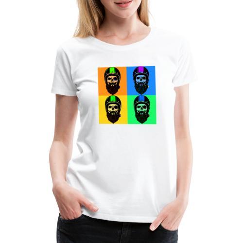 Rauchende Rocker leben kurz und wild - Frauen Premium T-Shirt