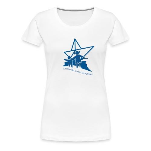 W i i Kinnings vonne Waterkant - Frauen Premium T-Shirt