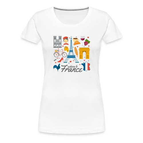 collection femme welcome to france - T-shirt Premium Femme