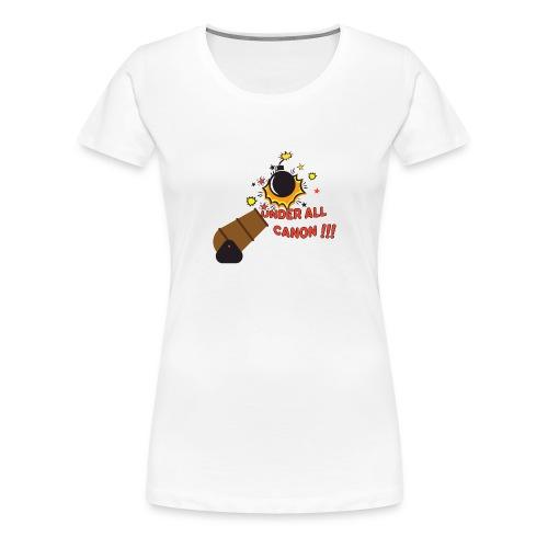 Denglisch-Shirt: under all canon, lustiges Shirt - Frauen Premium T-Shirt
