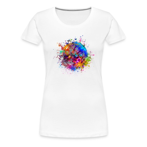 Birds Abstraction Butterflies White background 533 - Frauen Premium T-Shirt