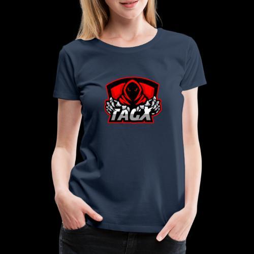 TagX Logo with red borders - Naisten premium t-paita