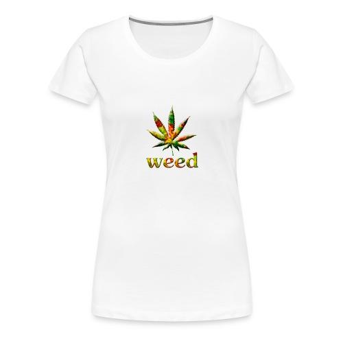 marijuana leaf - Frauen Premium T-Shirt
