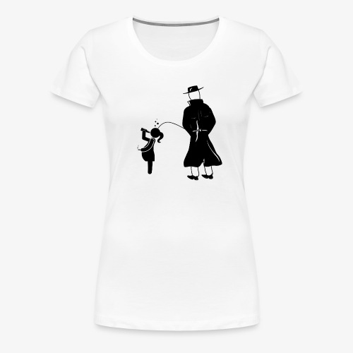 Pissing Man against irresponsible pregnancies - Frauen Premium T-Shirt