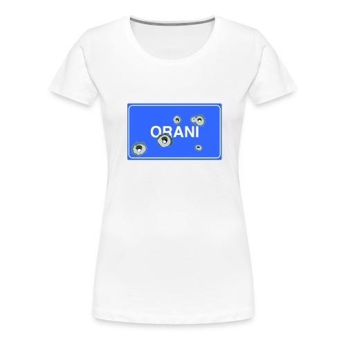 Cartello Orani blu - Maglietta Premium da donna