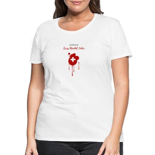 Swiss Market Index - Women's Premium T-Shirt